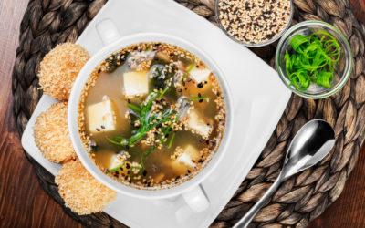 Sopa De Marisco Y Wakame
