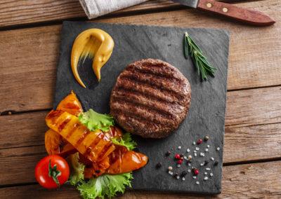 Hamburguesa De Carne Y Kombu